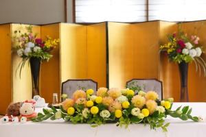 メインテーブル装花2