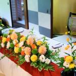 メインテーブル装花4