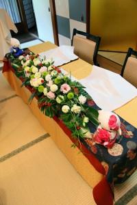 メインテーブル装花8