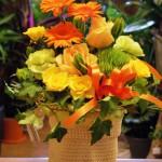 江南市の花屋アイビーのアレンジ